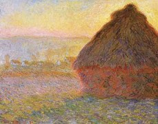 Meules, soleil couchant - Monet